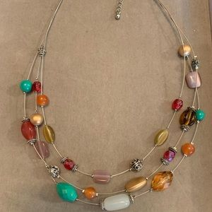Lia Sophia Necklace Multi Color